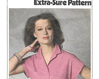 Simplicity 9024 Misses Shirt Sewing Pattern with Front Button Closing and Collar Size 8, 10, 12 Bust 31 1/2, 32 1/2, 34.