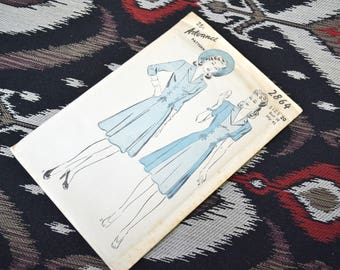 1940s Advance Dress Pattern, #2864, Size 20 (38 Bust, 41 Hip, 32 Waist)