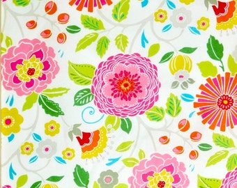 Flowers fabric, Hippie chic flowers  100% cotton fabric for general arts and crafts and all sewing projects.