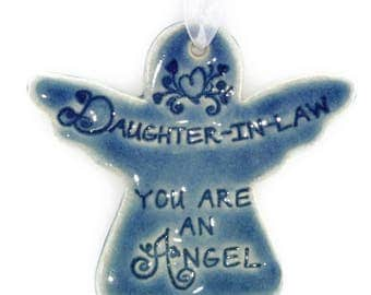 Christmas ornament Daughter-In-Law gift Christmas ornaments angel gift angel ornaments daughter in law ornament angel gifts