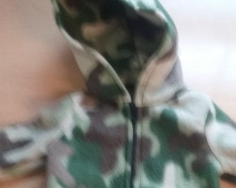 Camo Hoodie for 18 inch doll american girl and 15 inch bitty baby