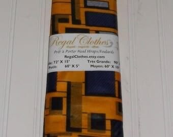 Yellow Mosaic Ankara Head Wrap Tribal Print HeadWrap Gift Ideas For Mom Women Turban Fashion  Holiday Fashion Scarf Mothers Day Gift For Mom