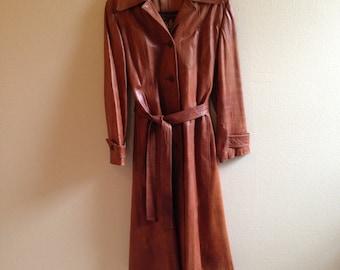 Womens leather coat | Etsy
