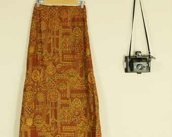 Vintage Indian Maxi Skirt Slightly Faded Sold AS IS
