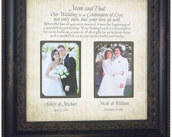 Wedding Gift for Dad, Wedding Gift for Mom, Parents of the Bride Groom Gift, mother of the bride frame, father of the bride frame, 16x16