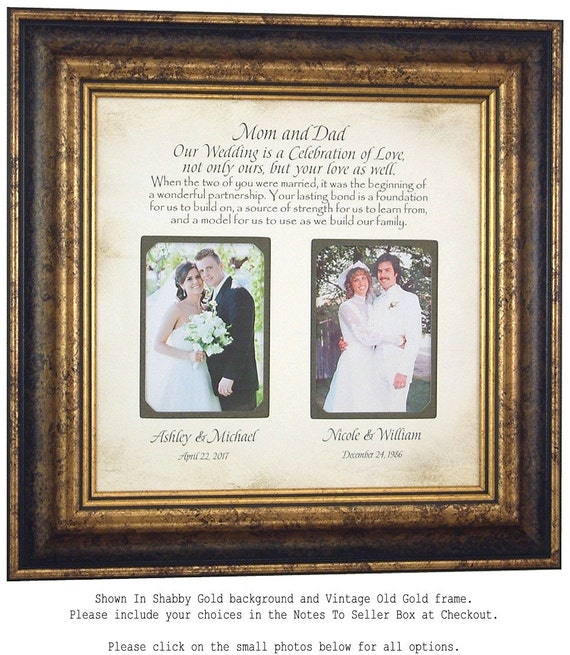 Unique Parent Wedding Gift Ideas: Personalized Wedding Gift For Parents Today Is A Celebration