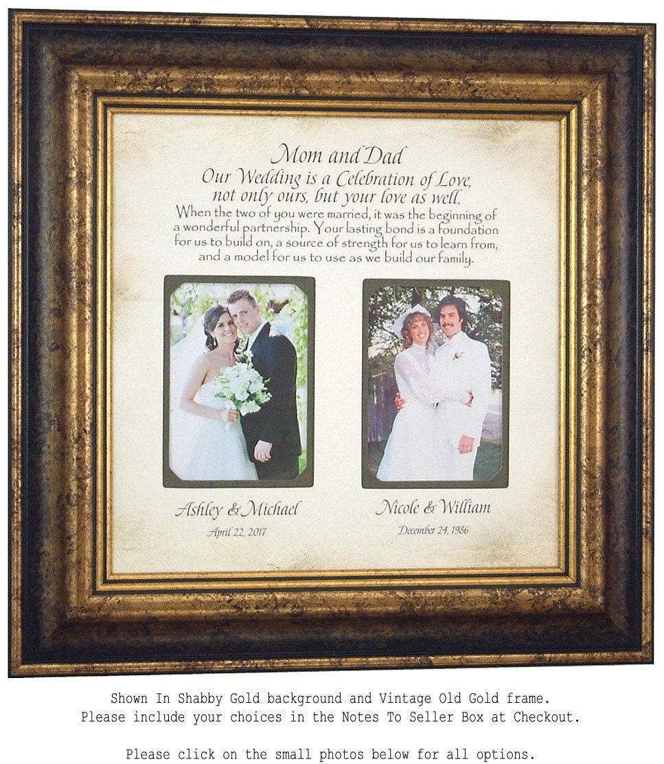 50th Wedding Anniversary Gift Etiquette: Personalized Wedding Gift For Parents Today Is A Celebration