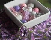 Sofia the First Necklace KIT DIY 20mm Beads and Rhinestone Pendant Pink Purple White Beads Disney's Sofia Amulet Birthday Stocking Stuffer