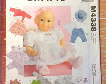 McCall's Crafts 4338 Baby Doll Clothes