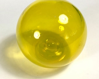 Yellow Blown Glass Float 3""