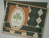 St. Patrick's Day Card, March 17, St. Patrick's Day, Got Green, Irish, Shamrock, Argyle, Irish Card, Shamrock Card