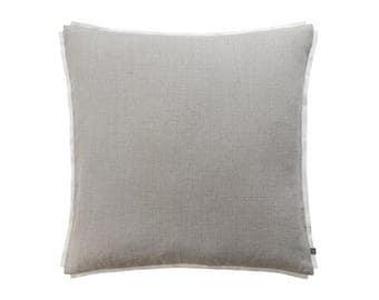 Trimmed linen pillow cover SALE, Linen throw pillow cover, Linen accent pillow cover, Natural cushions, Linen sofa pillow