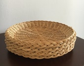 Vintage Natural Woven Wicker Paper Plate Holders