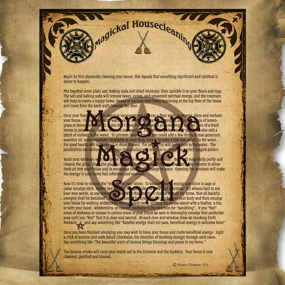 MAGICKAL HOUSECLEANING  Digital Download, White Magick Spell Wicca, Book of Shadows Page,Wicca, Grimoire, Scrapbook, Magick,Spells