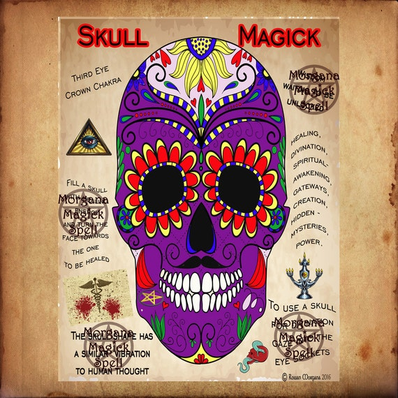 SAMHAIN SKULL MAGICK, Book of Shadows Pages,  Digital Download, Grimoire, Scrapbook, Spells, Wicca, Pagan, Witchcraft