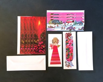 Mid-Century Christmas Cards with Envelopes - Unused