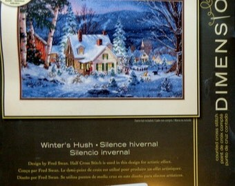 Dimensions Gold Collection WINTER'S HUSH Counted Cross Stitch Kit By Fred Swan
