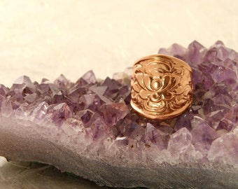LOTUS Flower Ring , Sculpted sterling or 14k Gold, Lotus Flower Jewelry. Lotus Ring. Yoga jewelry. lotus flower, lotus