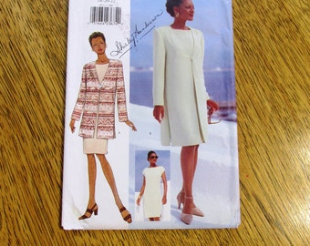 MODERNIST Mother of the Bride - Elegant Sheath Dress & Duster Jacket - PLUS Size (18 - 20 - 22) - UNCUT Sewing Pattern Butterick 4511