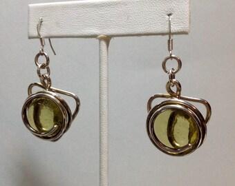 Artisan Sterling and Glass Earrings