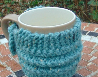 Hand knitted Mug Cosy -Cup Cozy-Coffee Sleeve