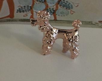 Pink Poodle Miniature Dog (1pc) rose gold