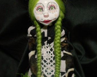 art doll , green hair