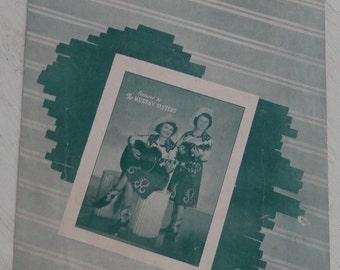 Vintage Hillbilly sheet music, Tea Leaves by the Murray Sisters, 1948