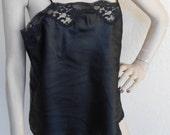 Vintage Camisole Black by Whisper Size Medium Satin Polyester