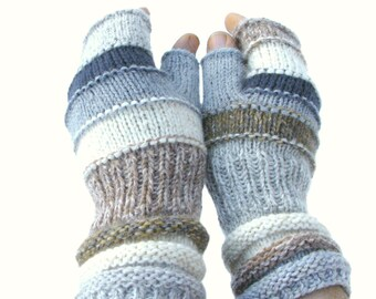 Brightly Men fingerless gloves Outlander Inspired accessories men's warmers Men's mittens Gift for boyfriend hand knit hand warmers For HIM