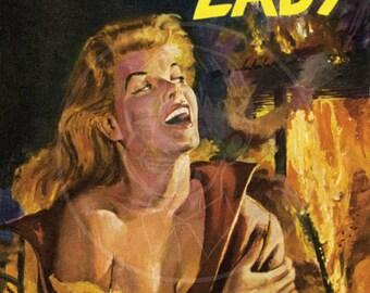 Homicidal Lady - 10x15 Giclée Canvas Print of a Vintage Pulp Paperback Cover