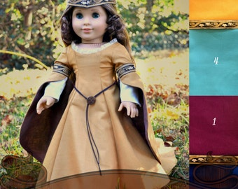 Medieval Doll Dress Made to Order for American Girl 18 inch doll