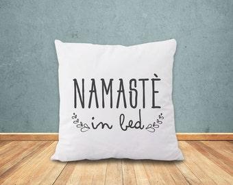 Namastè in bed pillow-Namastè in bed pillow cover-yoga pillow-gift for yogi-Namastay home decor-Christmas gift-yoga-by NATURA PICTA-NPCP078