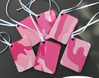 Gift Tags - Pink Camo - Set of 6 - hunter, sportswoman, hunter party, female hunter