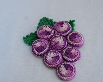 Vintage Crocheted Grapes Hot Pad