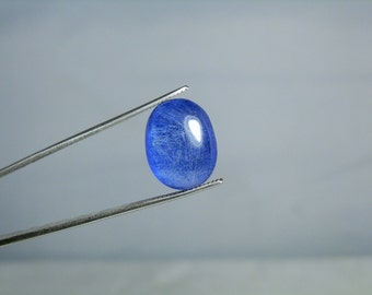 Natural Blue Dumortierite in Quartz Polished Crystal Mineral Specimen Cabochon 11.40 carats Loose Gemstone DanPickedMinerals