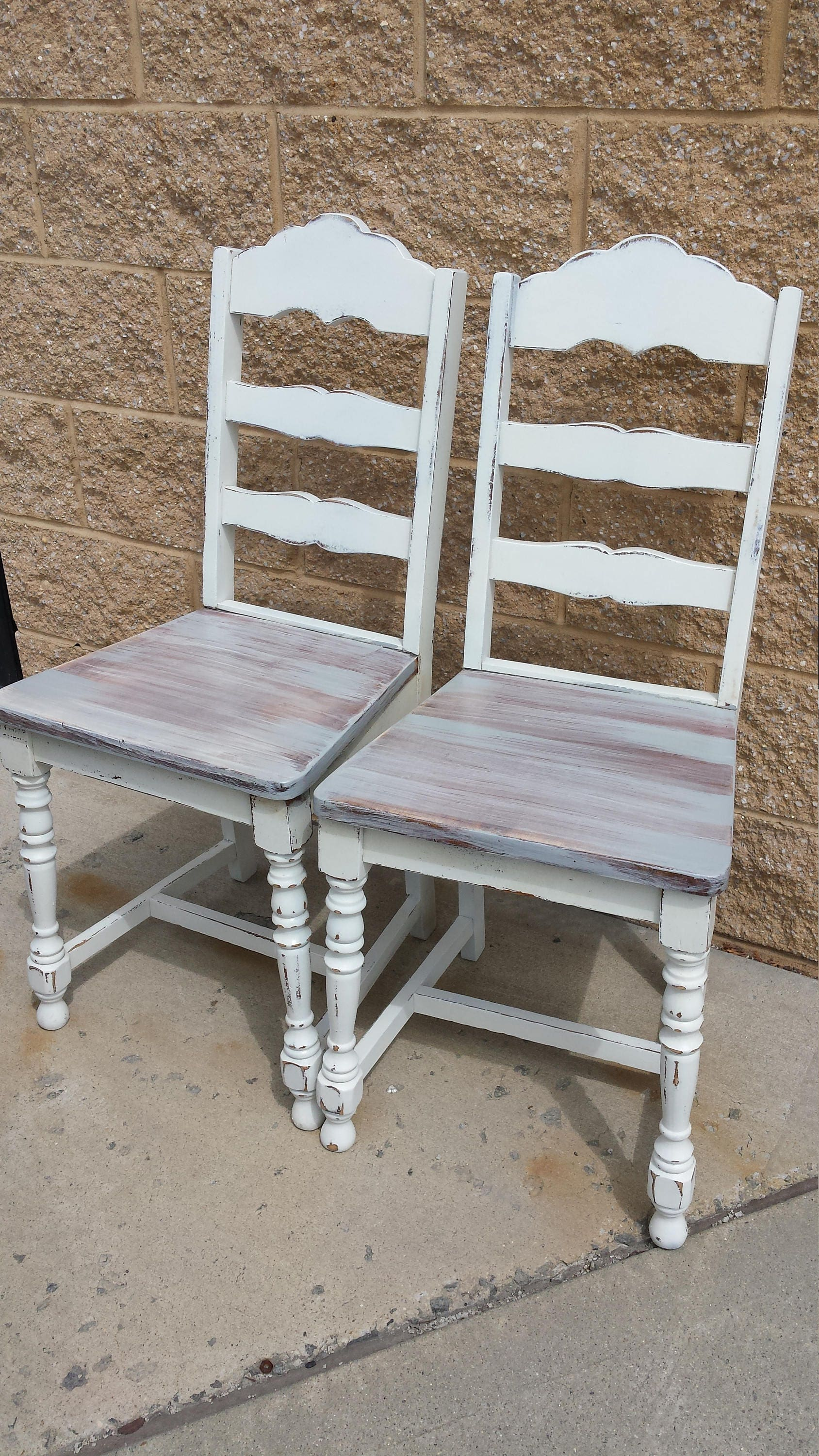 Vintage Shabby distressed chairs rustic farmhouse PICK UP ONLY