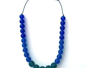 Nursing Necklace Babywearing Necklace Breastfeeding Necklace Nursing Beads - Chunky Necklace - Teal, Turquoise, Blue Necklace