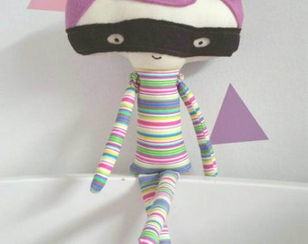 Superhero Doll, Plush Superhero, Boy Fabric Doll