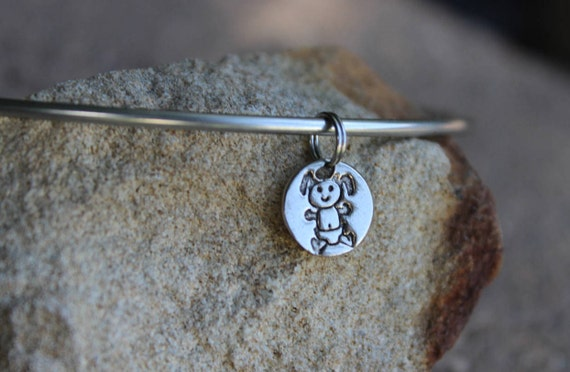 Baby Girl Charm for Charm Bangle Bracelet - Mantra Bangle Bracelets - Interchangeable charms - Gift for Mother - Gift, Charm Only