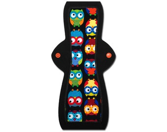 """Washable Cloth Pad (12"""" Moderate - Owl Flannel)"""