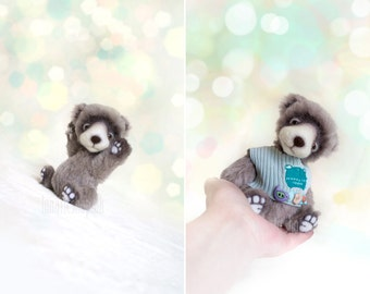 Artist bear Happy Chiboo handmade bear collectible mohair bear teddy bear bjd doll friend lunatic bears artist miniature bear bears by Luna