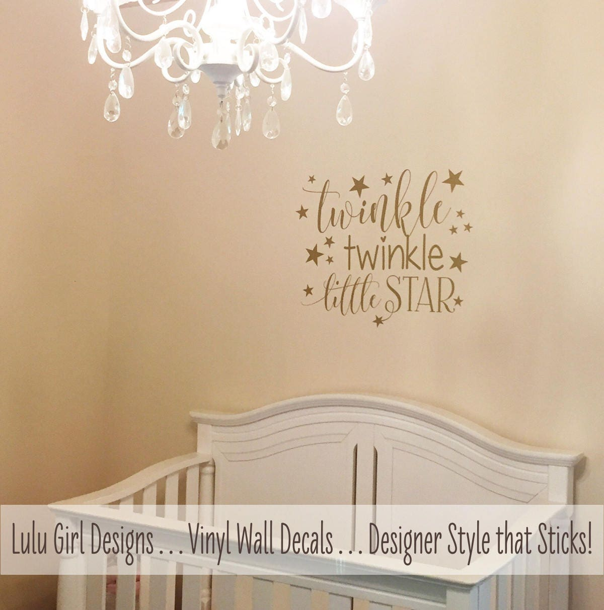 Twinkle twinkle little star nursery decor star wall decals zoom amipublicfo Choice Image