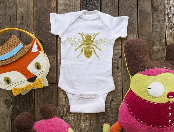Bee 1  - graphic printed on Infant Baby One-piece, Infant Tee, Toddler T-Shirts - Many sizes