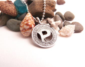 Silver Poughkeepsie & Wappingers Falls Token Necklace