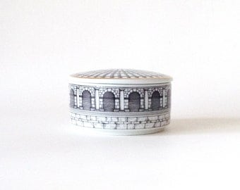 Fornasetti Dekor Palladiana Covered Box, Rosenthal, Made in Germany