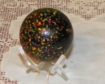 Vintage MARBLE Glass Collectible Game Toy Child Glass Confetti shooter