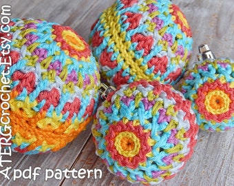 Crochet pattern Christmasball structure by ATERGcrochet
