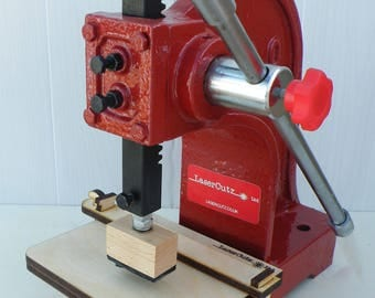 Embossing press for soap stamp