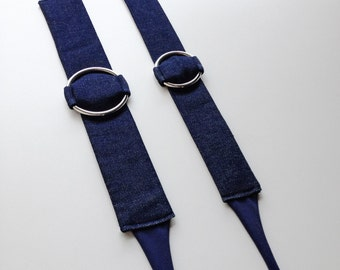 The circle choker - handmade in denim fabric - limited edition